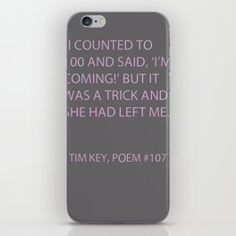 Poem #1077 iPhone Skin