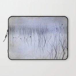Cormorants in the fog Laptop Sleeve