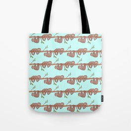 Lazy Baby Sloth Pattern Tote Bag