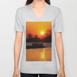 Silhouettes and Fire Unisex V-Neck
