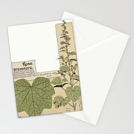 Maurice Pillard Verneuil - Étude de la plante (1903): Common Hollyhock Stationery Cards