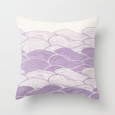 The Lavender Seas Throw Pillow
