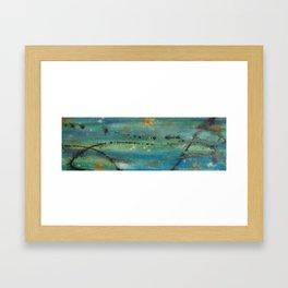 Eroded Planet Framed Art Print