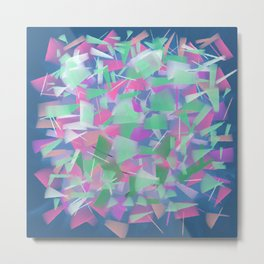Bright Colored Shards Metal Print