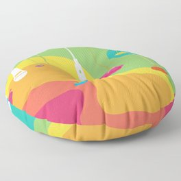 Rainbow Daydreaming Floor Pillow
