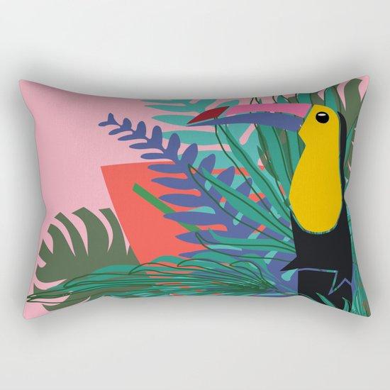 Toucan pink Rectangular Pillow