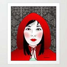 Little riding red hood Art Print