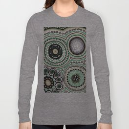 Green and Gold Rings Long Sleeve T-shirt