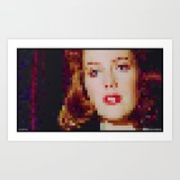 "scully Art Prints featuring SCULLY by ""Neverodd Inks"""