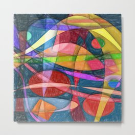 Abstract #398 Metal Print