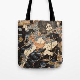 Utagawa Kuniyoshi  - One Hundred And Eight Heroes Tote Bag
