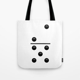 White Domino / Domino Blanco Tote Bag