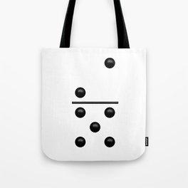 White Domino / Domino Blanco Tote Bag