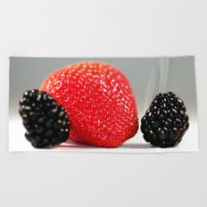 Strawberry Blackberry Beach Towel