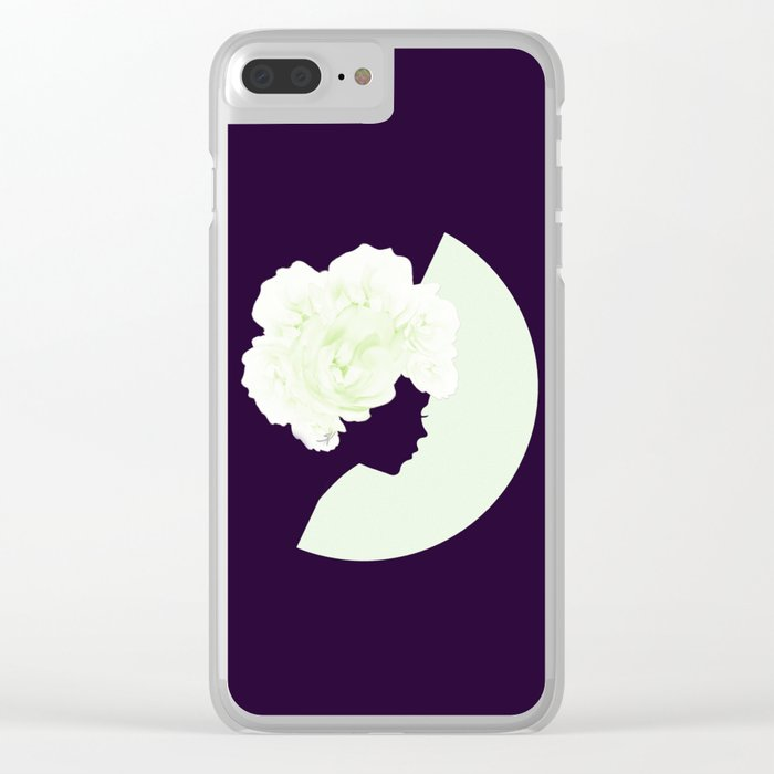 Silhouettes of night Clear iPhone Case
