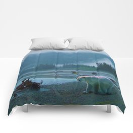 Great Spirit Bear and Misty River Comforters