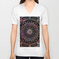 chakra V-neck T-shirts featuring CHAKRA by Spectronium - Art by Pat McWain