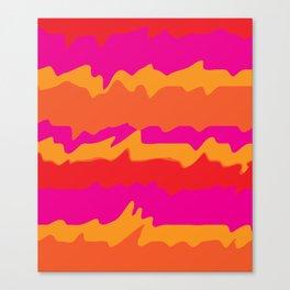 Retro Pink Pattern Canvas Print