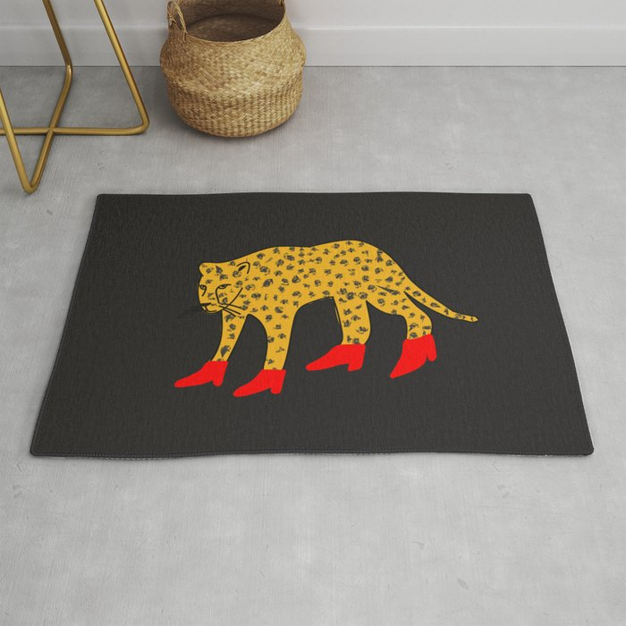 Red Boots Rug