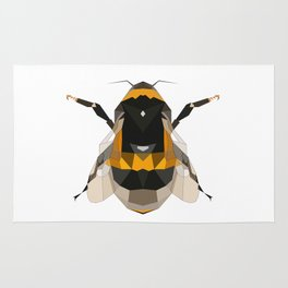 Bumble bee artwork Geomeric art Yellow and black Bee Midern design Rug