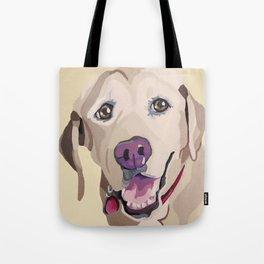 Emma the Yellow Lab- Pet Portrait Tote Bag