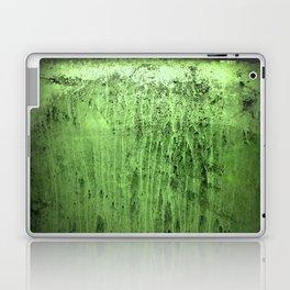 Old green window at night Laptop & iPad Skin