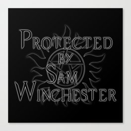 Protected by Sam Winchester Canvas Print