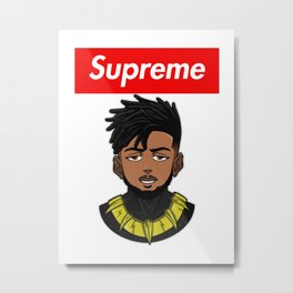 supreme killmonger Metal Print