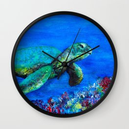 Look at my World (while there is time) Wall Clock