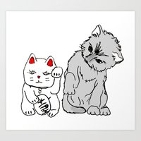 kittens Art Prints featuring Kittens by Larice Barbosa