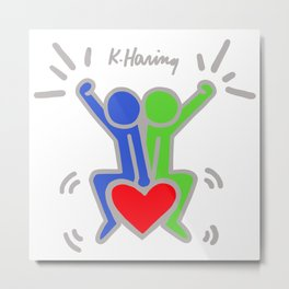 Love Each Other - Keith Haring Metal Print