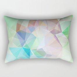 Delicate green polygonal pattern . Rectangular Pillow