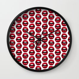 Lips pattern design Wall Clock
