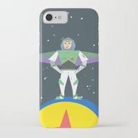 buzz lightyear iPhone & iPod Cases featuring Buzz Lightyear Celebration Illustration by A Strange One