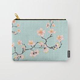 Sakura Cherry Blossoms x Mint Green Carry-All Pouch