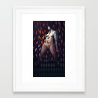diamonds Framed Art Prints featuring Queen of Diamonds by Rudy Faber