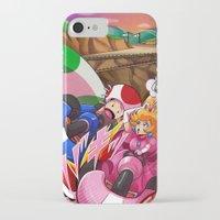 mario kart iPhone & iPod Cases featuring MARIO KART - YOSHI VALLEY by D.J. Kirkland