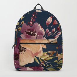 Watercolor Giant flowers fall colors Backpack
