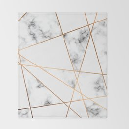 Marble Geometry 054 Throw Blanket