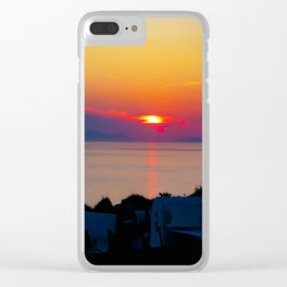 Oia Sunset Santorini Clear iPhone Case