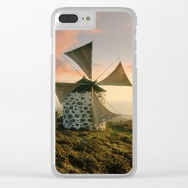 A rustic windmill in the Minho, north Portugal Clear iPhone Case