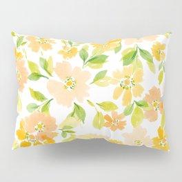 WatercolorBlossoms Pillow Sham
