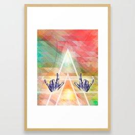 Dear rocking' hands - Music, body line art and color Framed Art Print