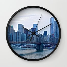 Lower Manhattan skyline Wall Clock