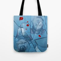 breaking bad Tote Bags featuring Breaking Bad by Steven P Hughes
