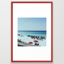Day at the beach serie #2 Framed Art Print