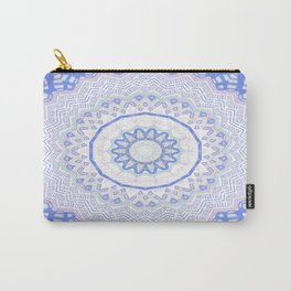 Baby Blue Pink Mandala Carry-All Pouch