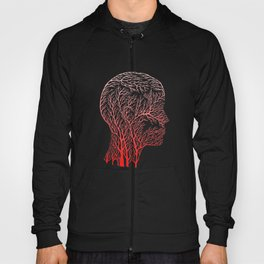 Head Profile Branches - Red Hoody