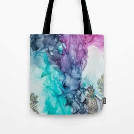 Remembering_ abstract painting , alcohol ink painting Tote Bag