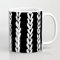 knit Mugs featuring Knit 8 by Project M